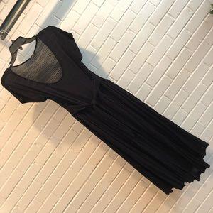 Lucky Brand Short Sleeve Black Dress, Large